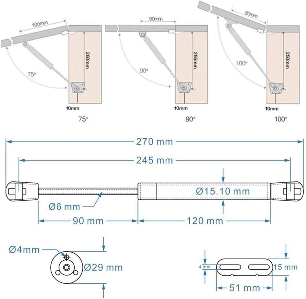2X Gasdruckfeder Klappenbeschlag Gasdruckd/ämpfer 60N f/ür K/üchenschrank Soft Close Weichschlie/ßen T/ürscharniere