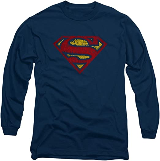 Superman DC Comics Crackle S - Camiseta de manga larga para adulto: Amazon.es: Ropa y accesorios