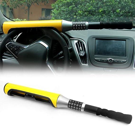 Kairay Diebstahlsicherung Auto Lenkradschloss 5 Passwort Codiert Lenkschloss Gelb Baseballschläger Typ Sicherheitsvorrichtung Universal Für Auto Suv Baumarkt