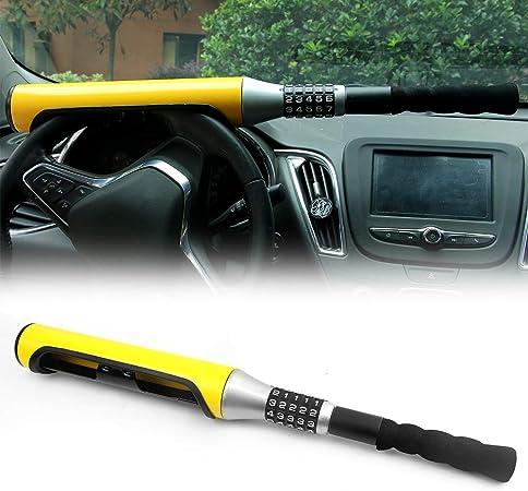 Candado antirrobo para volante de coche con 5 contrase/ñas codificadas en color amarillo bate de b/éisbol tipo dispositivo de seguridad universal para coche SUV KAIRAY