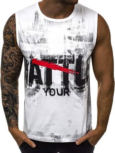 Chaleco Hombre Camisetas de Tirantes para Hombre Camisa de ...