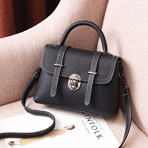 single Amarillentas Hombro Bolsos Dulce Único Bolsos shoulder Primavera GUANGMING77 black Bolsos wood Amarillo Black Messenger Hombro zqAgfOwS