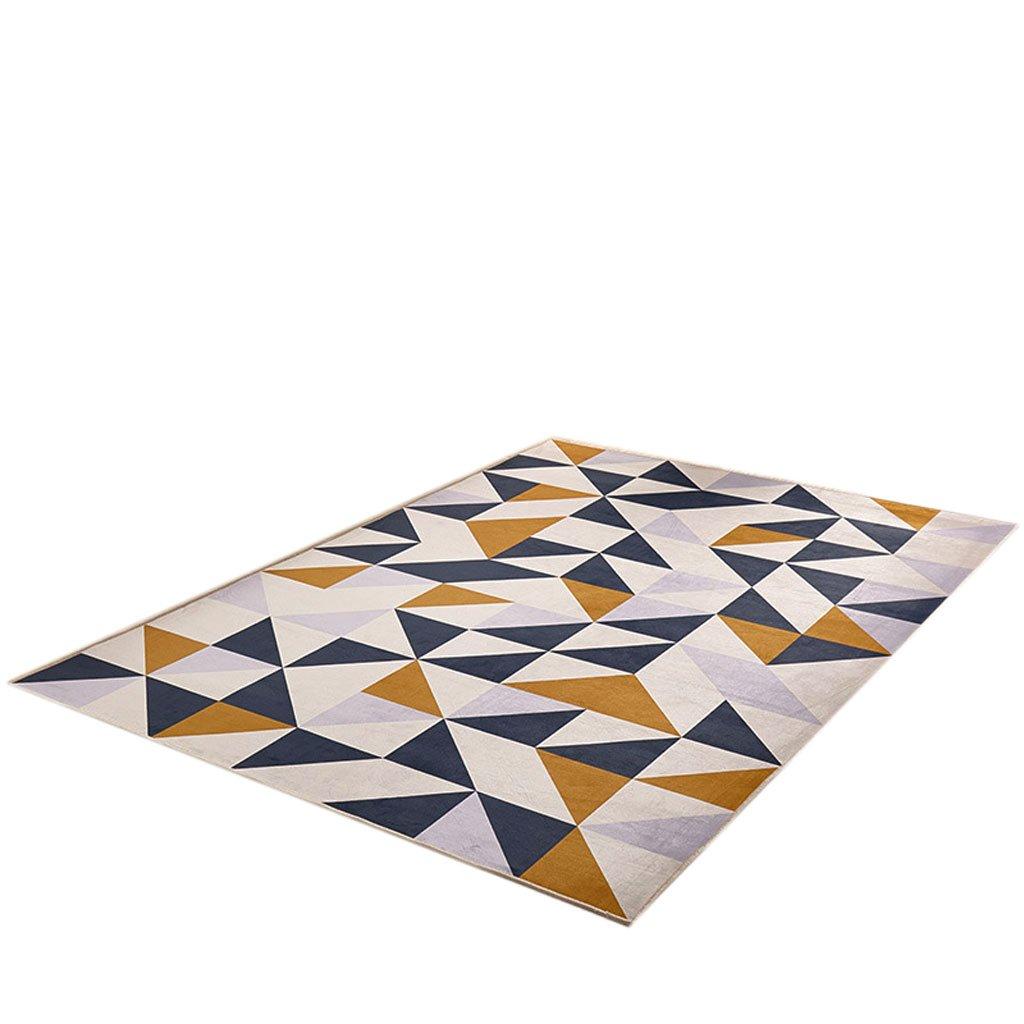 Skandinavische Teppich Rechteck Geometrie von Nordeuropa Große Teppich Wohnzimmer Couchtisch Schlafzimmer Probe Teppich Zusammenfassung (Farbe   A, größe   120  160cm)
