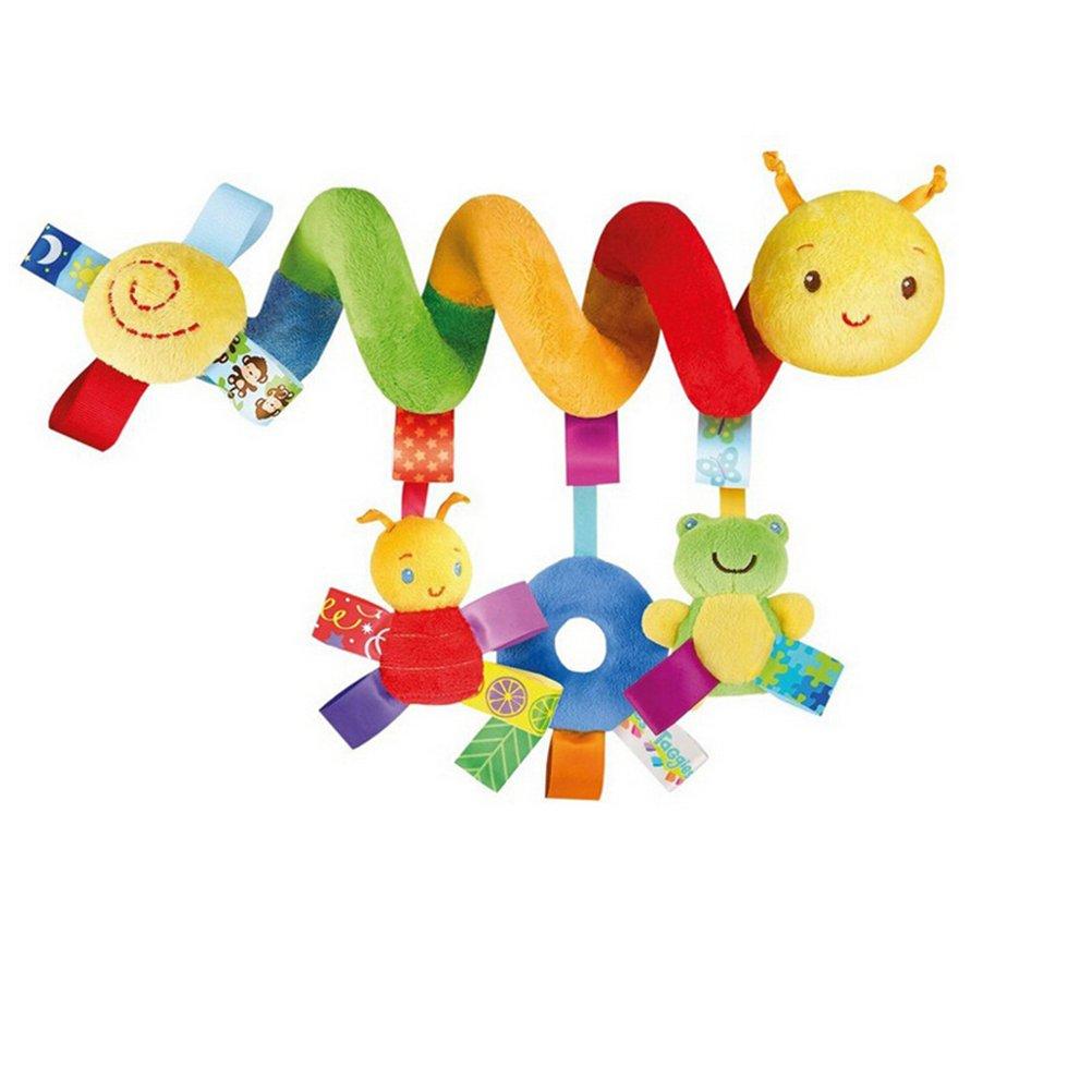 Pixnor Espiral actividades colgar juguetes del cochecito de bebé juguetes carro asiento