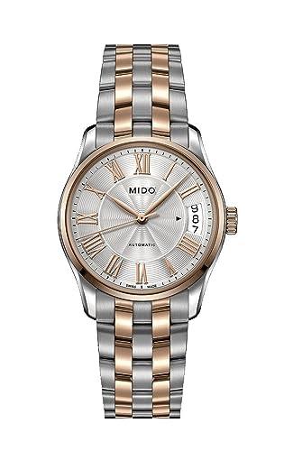 Mido Reloj Analógico para Mujer de Automático con Correa en Acero Inoxidable M024.207.22.033.00: Amazon.es: Relojes