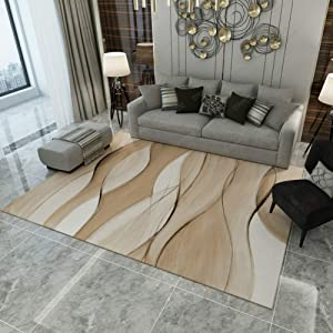 TriGold Modern Abstract Geometric Art Area Rugs Not-Slip Soft Velvet Indoor Carpet Rectangular Throw Rugs Decorative Living Room Bedroom-h 140x200cm(55x79inch)