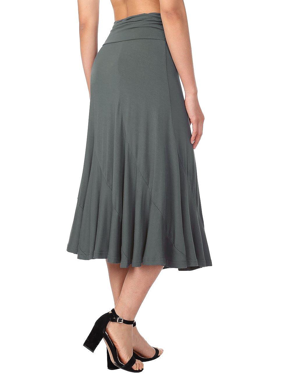 DJT-Falda Plisada para Mujer con Cintura de Talle Alto