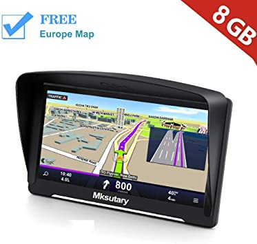 Mksutary Gps Für Auto Navigationsbildschirm Kapazitiver Lcd Touchscreen 256 Mb Ram 8 Gb Rom 51 Länder Gps Navigationssystem Für Autos Und Lebenslange Karten Updates Navigation