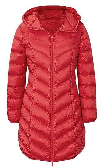 d847cf7ee PWYXSA Women's Lightweight Hooded Long Down Outerwear Puffer Jacket Coat  Windbreaker Outdoor Quilted Down Parka Jacket