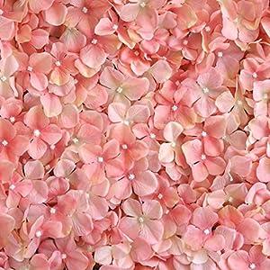 Efavormart 4 PCS Blush Silk Hydrangea Flower Mat Wall Wedding Event Decor for DIY Centerpieces Arrangements Party Home Decorations 5