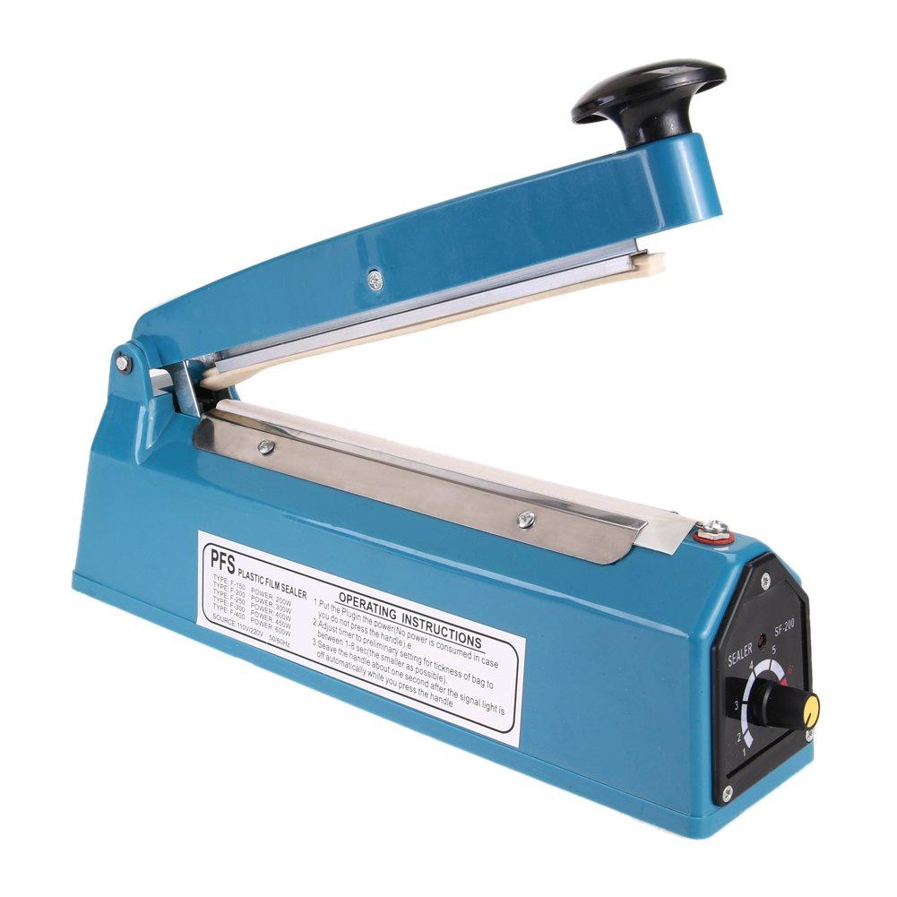 WinnerEco 8 Heat Sealing Impulse Manual Sealer Machine Poly Tubing Plastic Bag Teflo