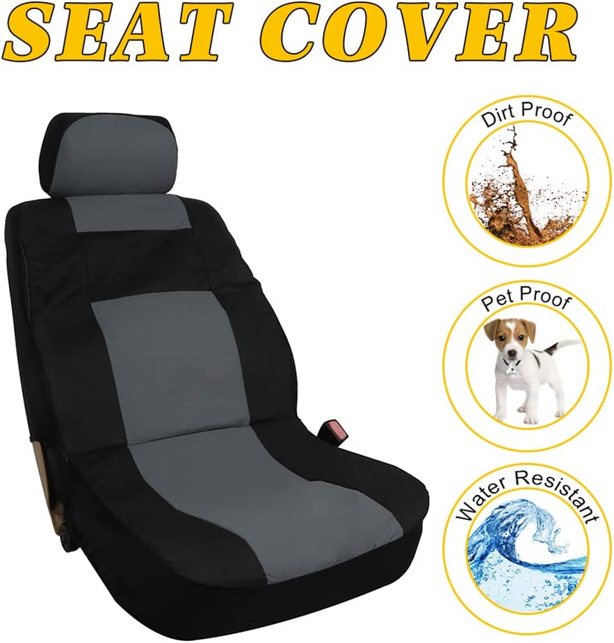 Black//Beige Stretchy Universal Seat Cushion w//Headrest 100/% Breathable Automotive Accessories Durable Washable Mesh Cloth for Most Cars OCPTY Car Seat Cover