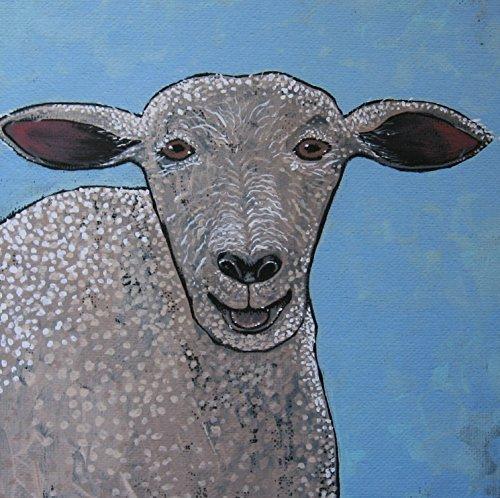 Sheep Illustration Giclee Print, Farm Art -