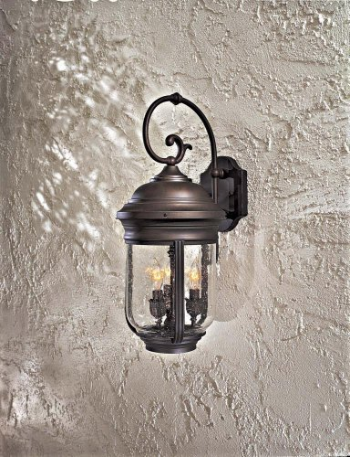 Minka Lavery Outdoor 8811-57, Amherst Solid Brass Outdoor Wall Sconce Lighting, 180 Watts, Bronze by Minka Lavery