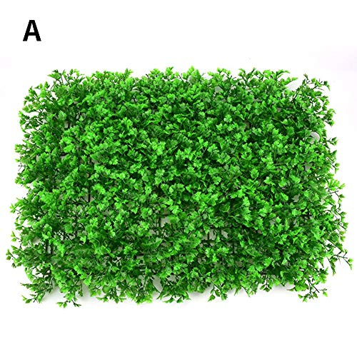 - Yunhigh Greenery Grass Wall Decoration - Artificial Plant Lawn Faux Hedges DIY Panels for Home Garden Balcony Outdoor Indoor Decoration