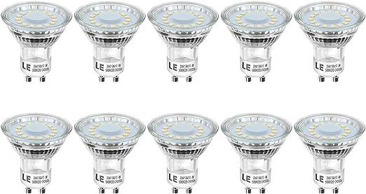 40 W equivalente a 50 W Confezione da 12 lampadine di ricambio per faretti alogeni GU10 240 V dimmerabile luce bianca calda