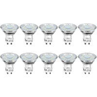 LE GU10 LED Light Bulbs, Daylight White 5000K, 50W Halogen Bulb Equivalent, 4W 350lm, 120° Beam Angle, Pack of 10