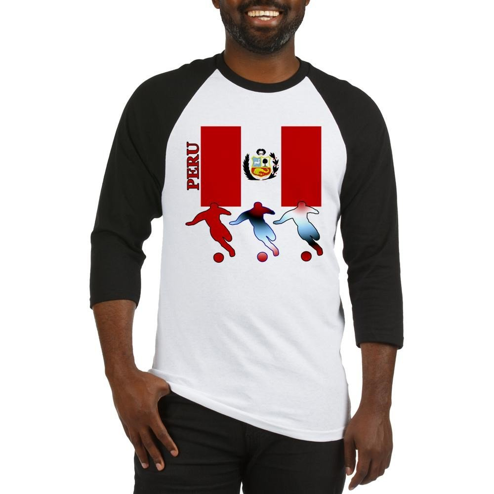 c1166f63f3d Amazon.com: CafePress Peru Soccer Baseball Jersey Baseball Shirt: Clothing