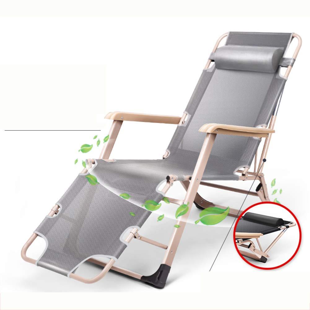 可能 ラウンジチェア, ヘッドレストと アームレスト サンラウン ジャー 寝椅子 式 無重力の椅子 リクライニングチェア 屋外 テラス 庭 キャンプ ビーチ 67x118x51cm(26x46x20inch) F B07PXX2CY2