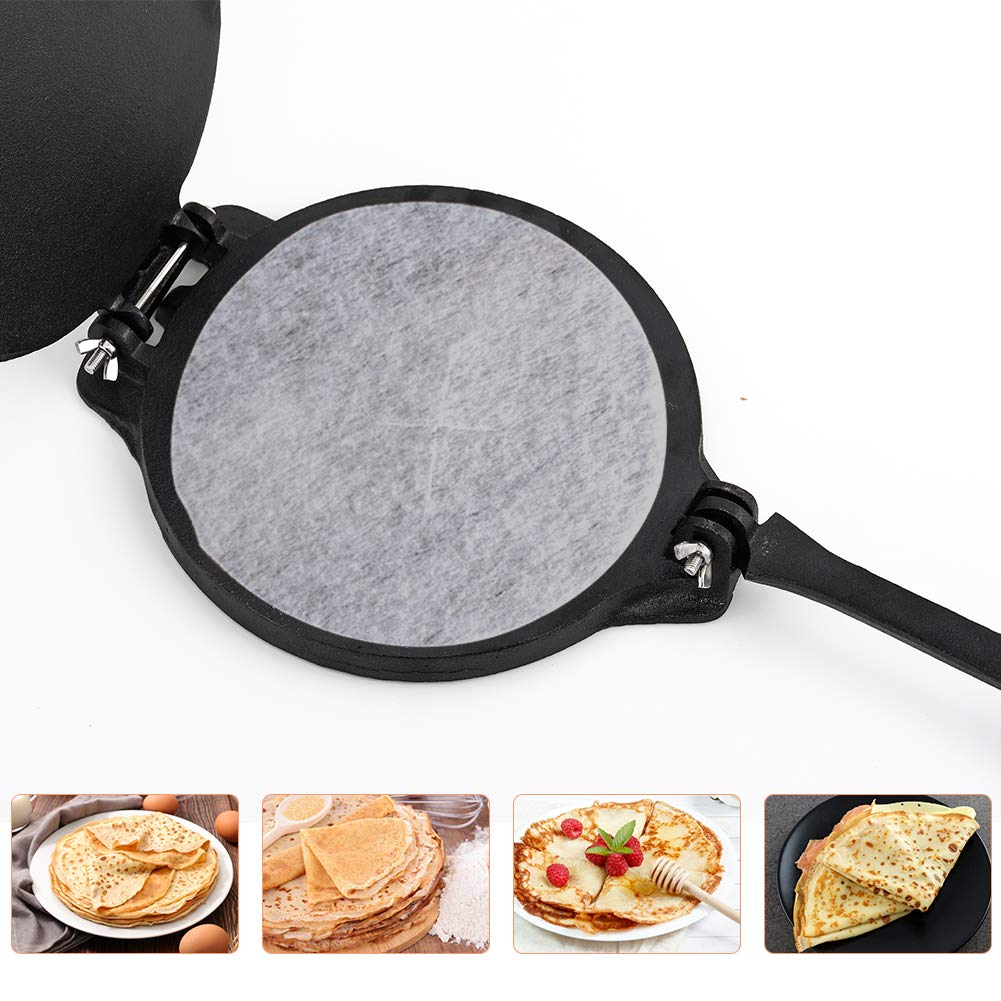 Greenvelly Cast Iron Tortilla Press Maker and Pataconera 7.8 Inch Heavy Duty Pre Seasoned Spanish and Mexican Cooking Easy to Use Flatbread and Flour Corn Even Pressing Quesadilla and Tortilla Maker by Greenvelly