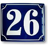 mit Wunschnummer Kreis /Ø 15 cm Hausnummer Hausnummernschild Emaille