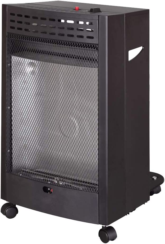 Bastilipo 4200W Bastilipo-EGA-4200-Estufa de Gas de Llama Azul de 4200W-Propano, Butano o Mezclas GLP. Sistema de Seguridad, Negro