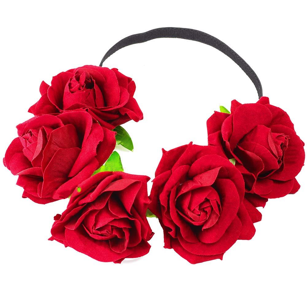 Beelittle corona di fiori fatti a mano corona floreale corona ghirlanda di capelli copricapo per i puntelli di foto di festa di nozze Festival