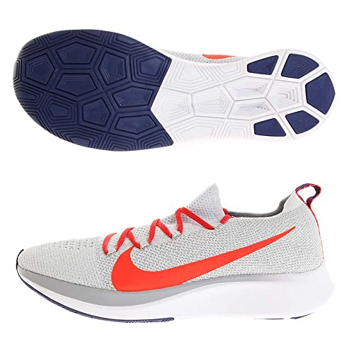 d7b43edfa Nike Men's Zoom Fly Flyknit Competition Running Shoes, Multicolour (Pure  Platinum/Bright Crimson 044), 6 UK: Amazon.co.uk: Shoes & Bags