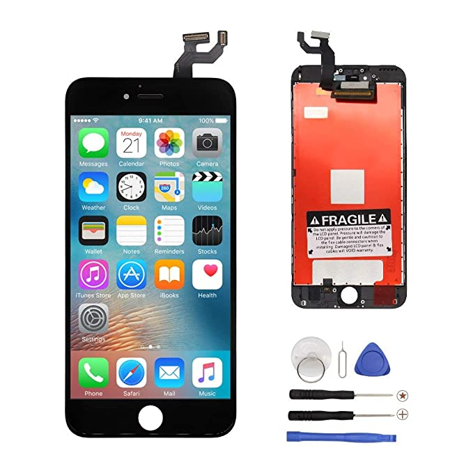 finest selection 7d0b1 e9fd1 Screen-Fix For iPhone 6s Screen Replacement LCD Display Digitizer Full  Assembly with Repair Tools Kits & Screen Protector (Black 4.7 inch)