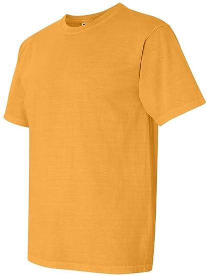 6cb52fdaf Comfort Colors 1717 Pigment-Dyed Short Sleeve Shirt (Citrus, Small)
