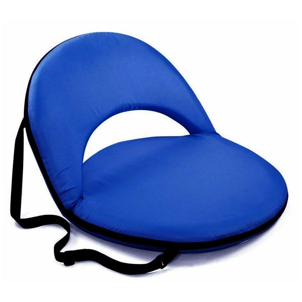 Trademark Innovations Portable Recliner Picnic Seat, Multi-Use (Blue) PICNIC-OVA-BU