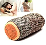 LiCHY Neck Support Log Car Throw Wood Pillow Cushion Soft New Nature Seat Headrest