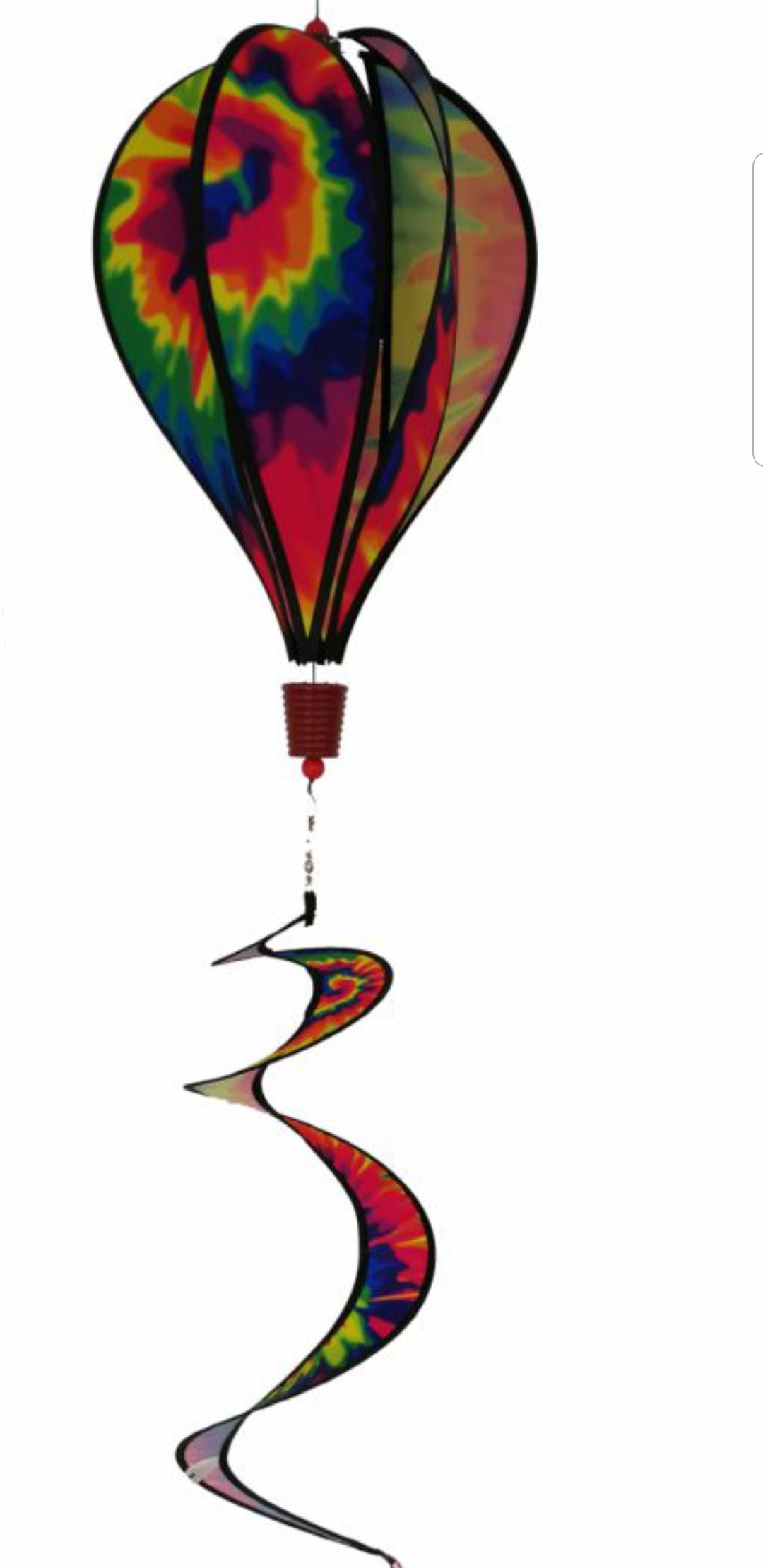 Produtos Profissionais de Elite 16-Inch 6-Panel Tie Dye Hot Air Balloon Wind Spinner with 30-Inch Tails