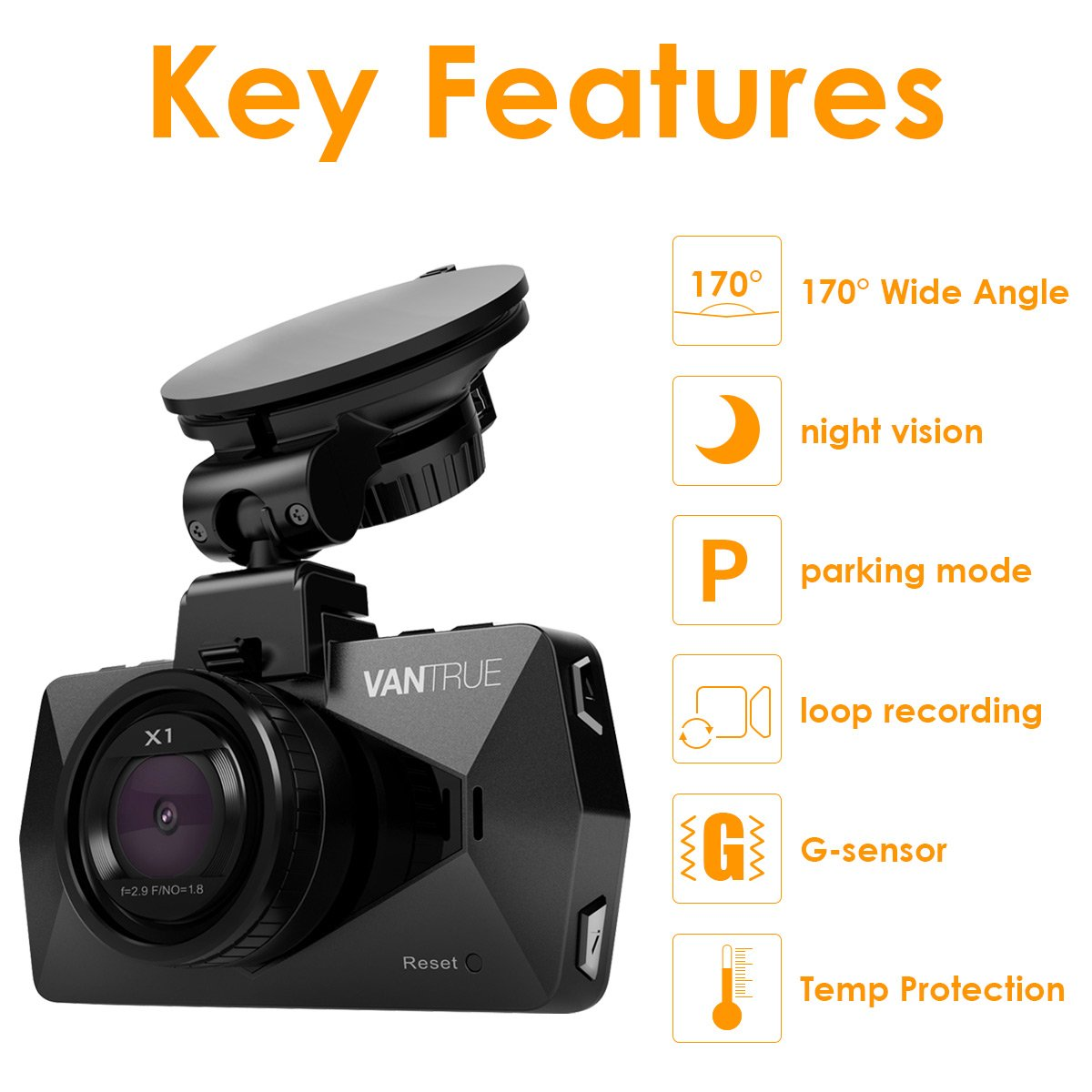 Vantrue Dash Cam Full Hd 1920x1080p Car Camera 170 Wide Kia Pro Ceed Fuse Box Angle 27 Lcd Video Recorder With Super Night Vision Parking Mode