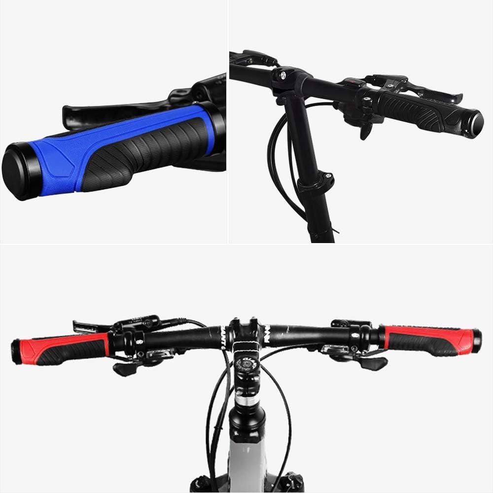 Protector Manillar Bicicleta,Ergon/ómicos Antideslizante Apretones Bicicleta 1 Par Bicicleta Manillar Apretones para Mango de Di/ámetro 22mm Pu/ños Bicicleta Doble Bloqueo