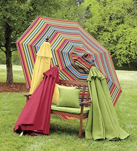 9' Aluminum Umbrella With Crank Arm, in Fern