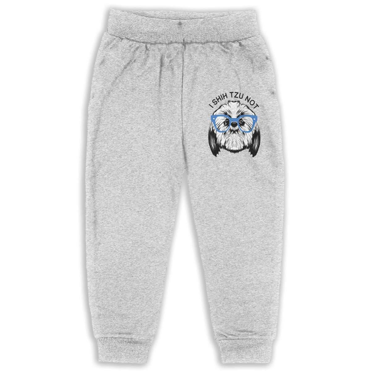 I Shih Tzu Not Kids Cotton Sweatpants,Jogger Long Jersey Sweatpants