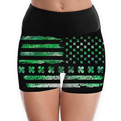 Irish American USA Flag Yoga Shorts For Women Tummy Control Workout Running Shorts Pants Yoga Short