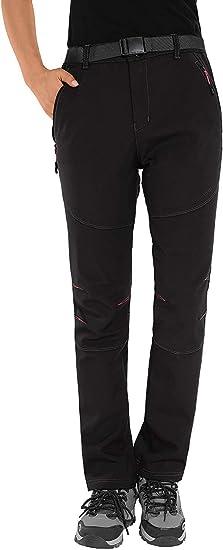 BenBoy Pantaloni Trekking Donna Invernali Impermeabile Caldo Pantaloni Softshell Outdoor Pantaloni da Arrampicata Escursionismo