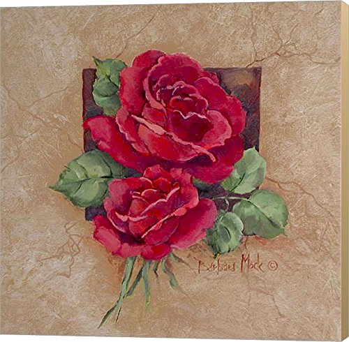 Rose Square by Barbara Mock Canvas Art Wall Picture, Museum Wrapped with Khaki Sides, 24 x 24 inches Barbara Mock Roses