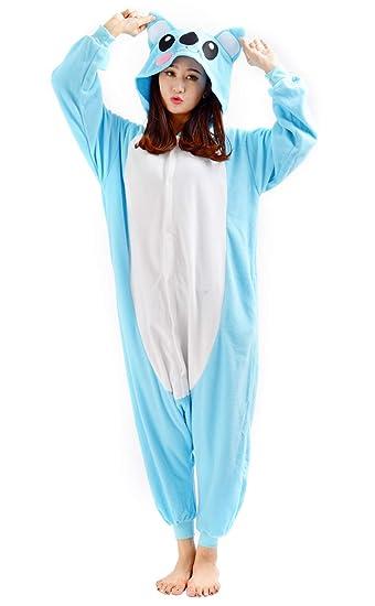 Unisex Animal Pijama Ropa de Dormir Cosplay Kigurumi Onesie Azul ...