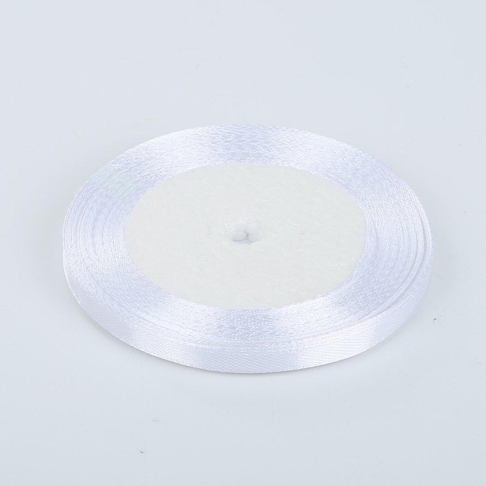 22m/×0.6cm decoraci/ón de boda 6 mm manualidades SMARTrich Rollo de cinta de sat/én de doble cara de seda para regalos hot pink tela