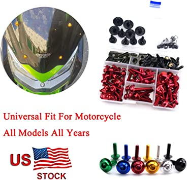 High Quality Motorcycle Parts CNC Machined Aluminum Alloy Motorbike Windshield Bolts Screw Set Gold Fit For Suzuki TL1000R