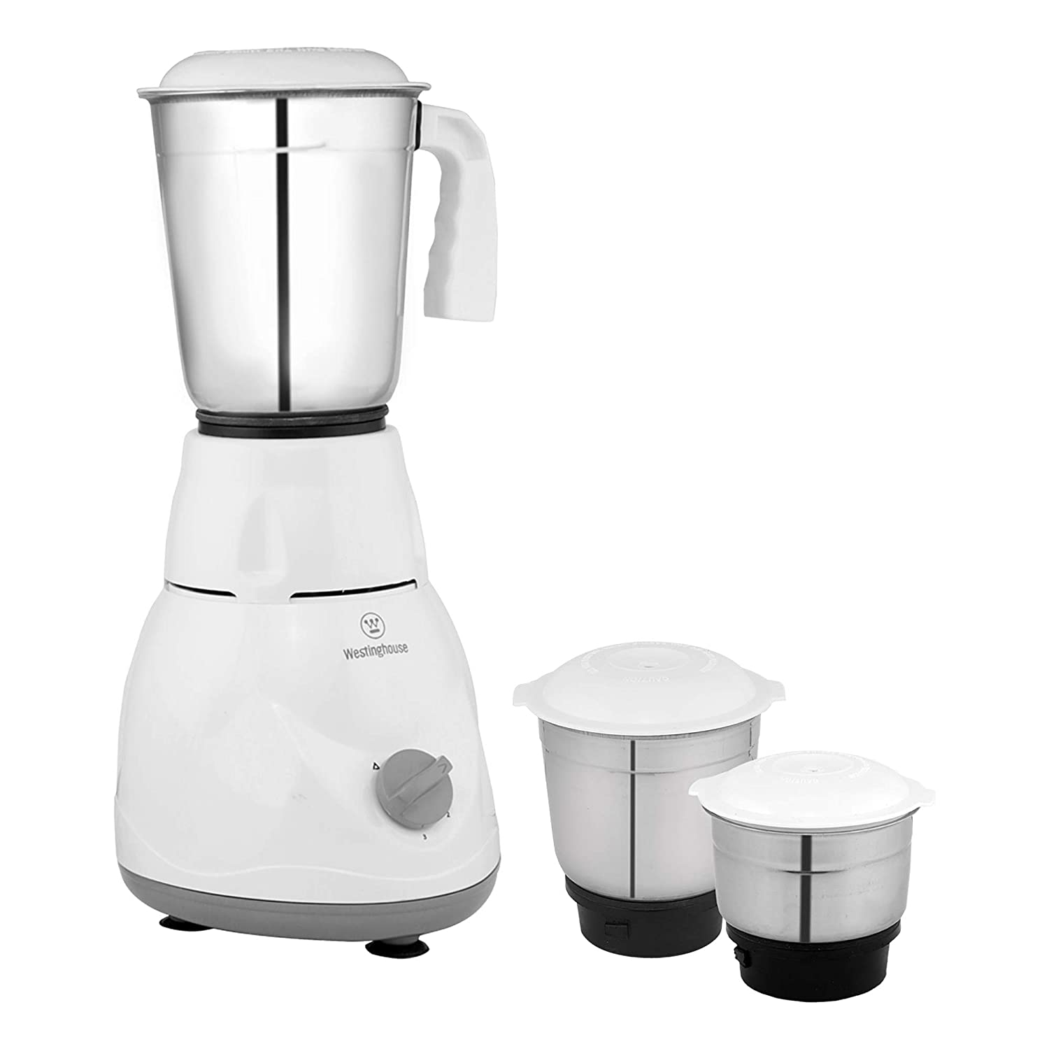 Westinghouse M50W3A-DJ 500 W Mixer Grinder with 3 Jars (White)