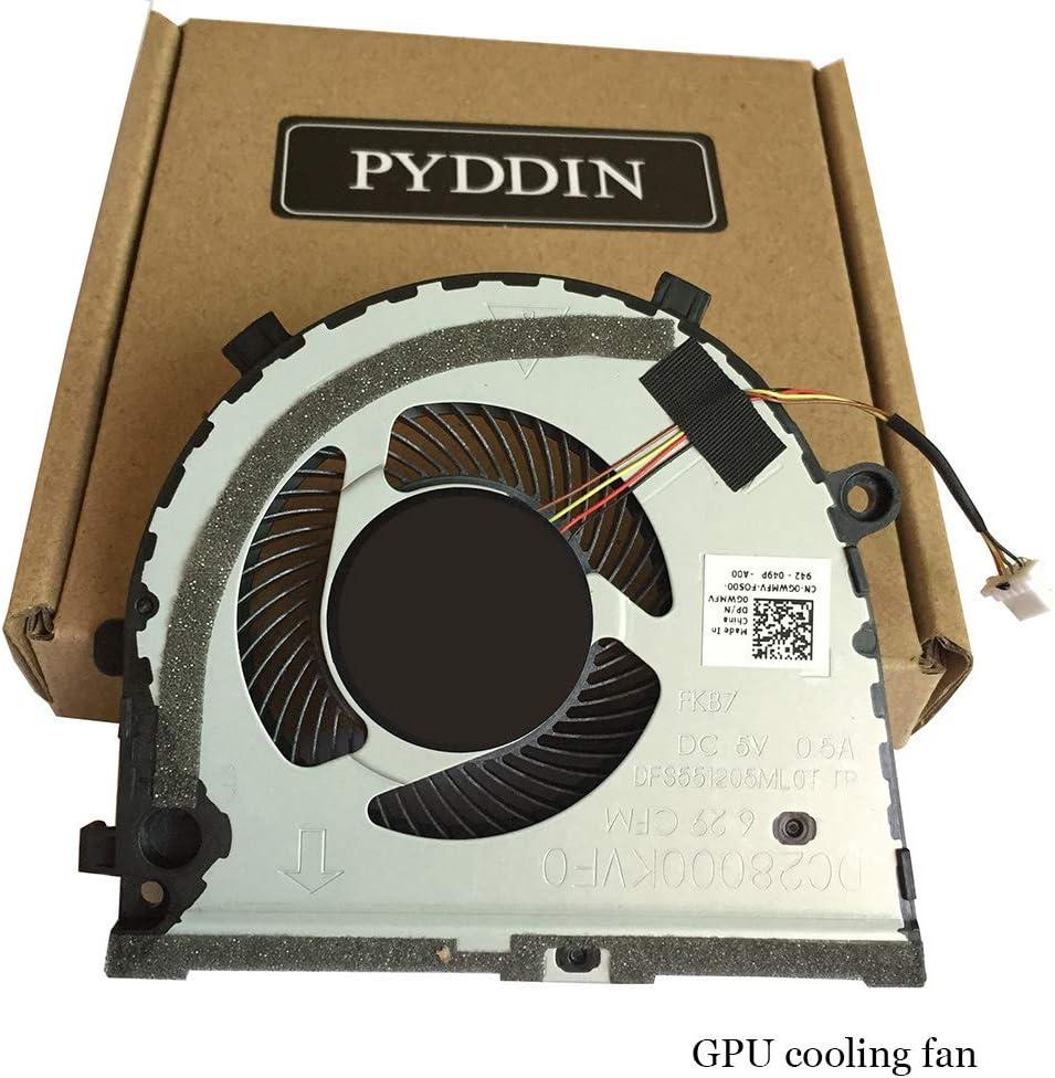 PYDDIN Laptop GPU Cooling Fan Cooler for Dell inspiron G3-3579 3779 G5 15 5587 0GWMFV (GPU Fan 1piece)