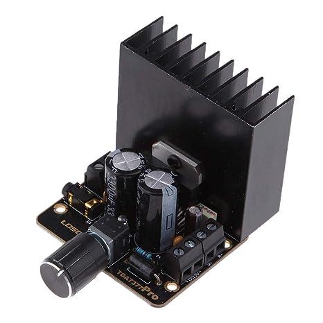 D DOLITY TDA7377 2 Canales Amplificador para Sistema de Sonido Vehículo Altavoz Hogar, 30W +