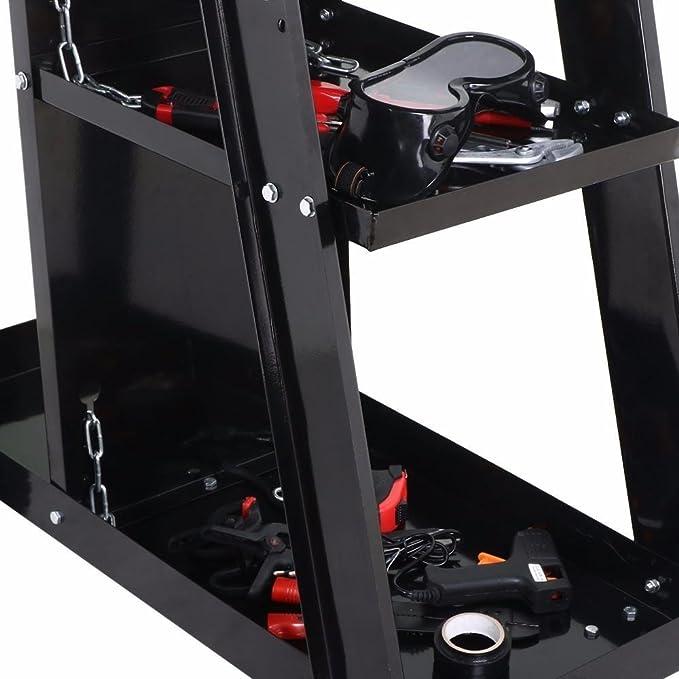 Outdoortips - Carrito de soldadura carro para soldadura MIG TIG ARC soldador cortador de plasma, color negro: Amazon.es: Bricolaje y herramientas