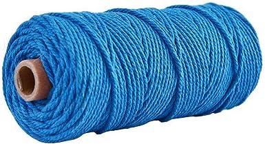 Cordón de algodón de 3 mm x 100 mCordón de algodón natural para ...