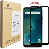 [2 Pack] Ytaland Screen Protector for Xiaomi Mi A2 Lite, [ Full Glue ] [ Full Coverage ] [0.3mm, 2.5D] [Bubble-Free] Tempered Glass Screen Protector for Xiaomi Mi A2 Lite/Xiaomi Redmi 6 Pro