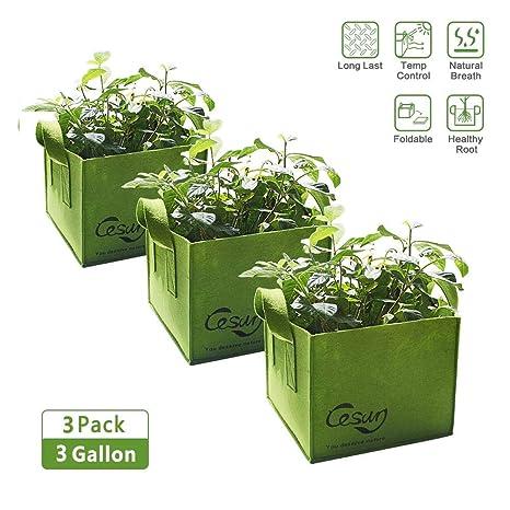 Cesun 3 galones Bolsas de Cultivo para Plantas, macetas de ...